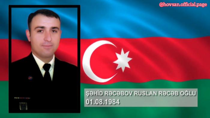 Ruslan Rəcəbov:  Xocavənddə şəhid olan